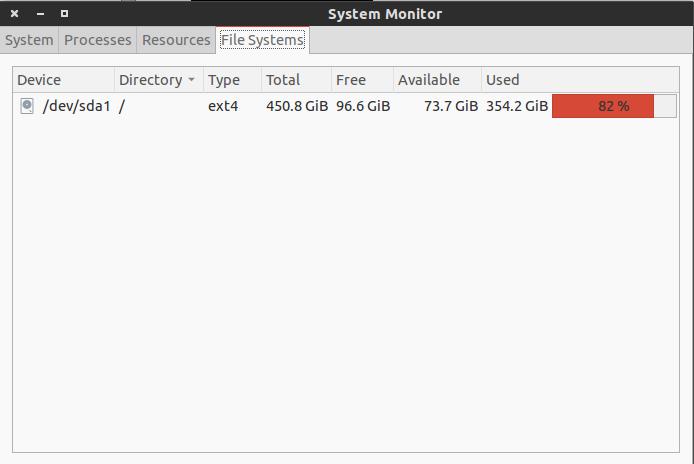 คลิ๊กแท็ป File Systems