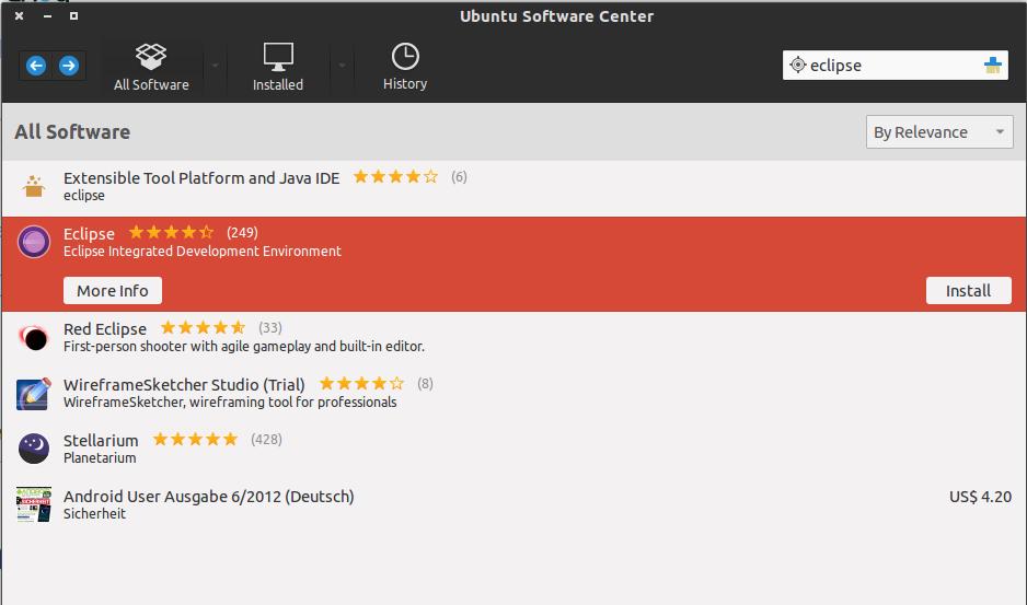 ติดตั้งผ่าน Ubuntu Software Center