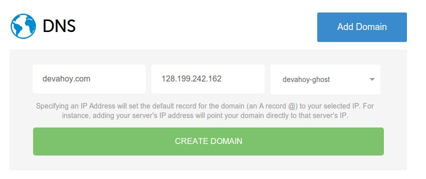 Add domain DNS