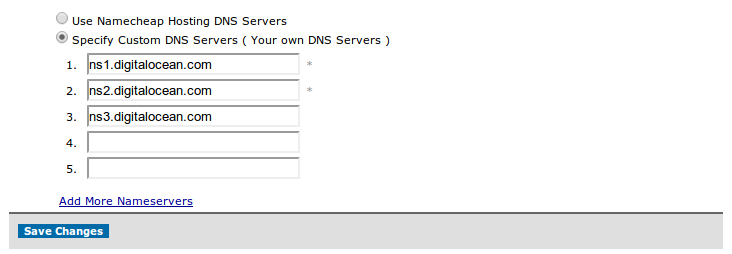 Edit nameserver namecheap