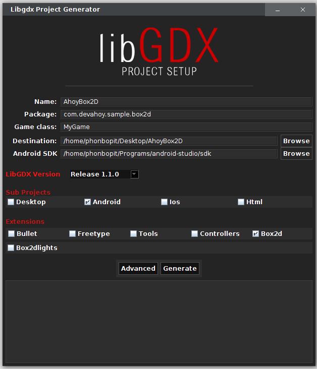 Setup LibGDX