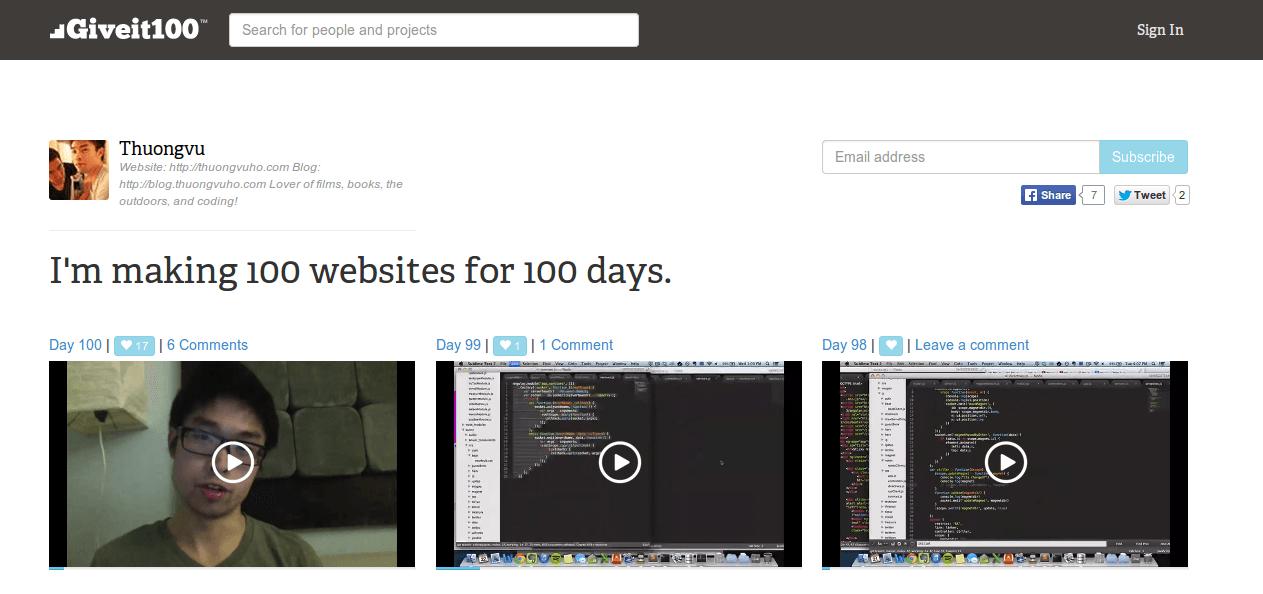 Make 100 Website in 100 Days