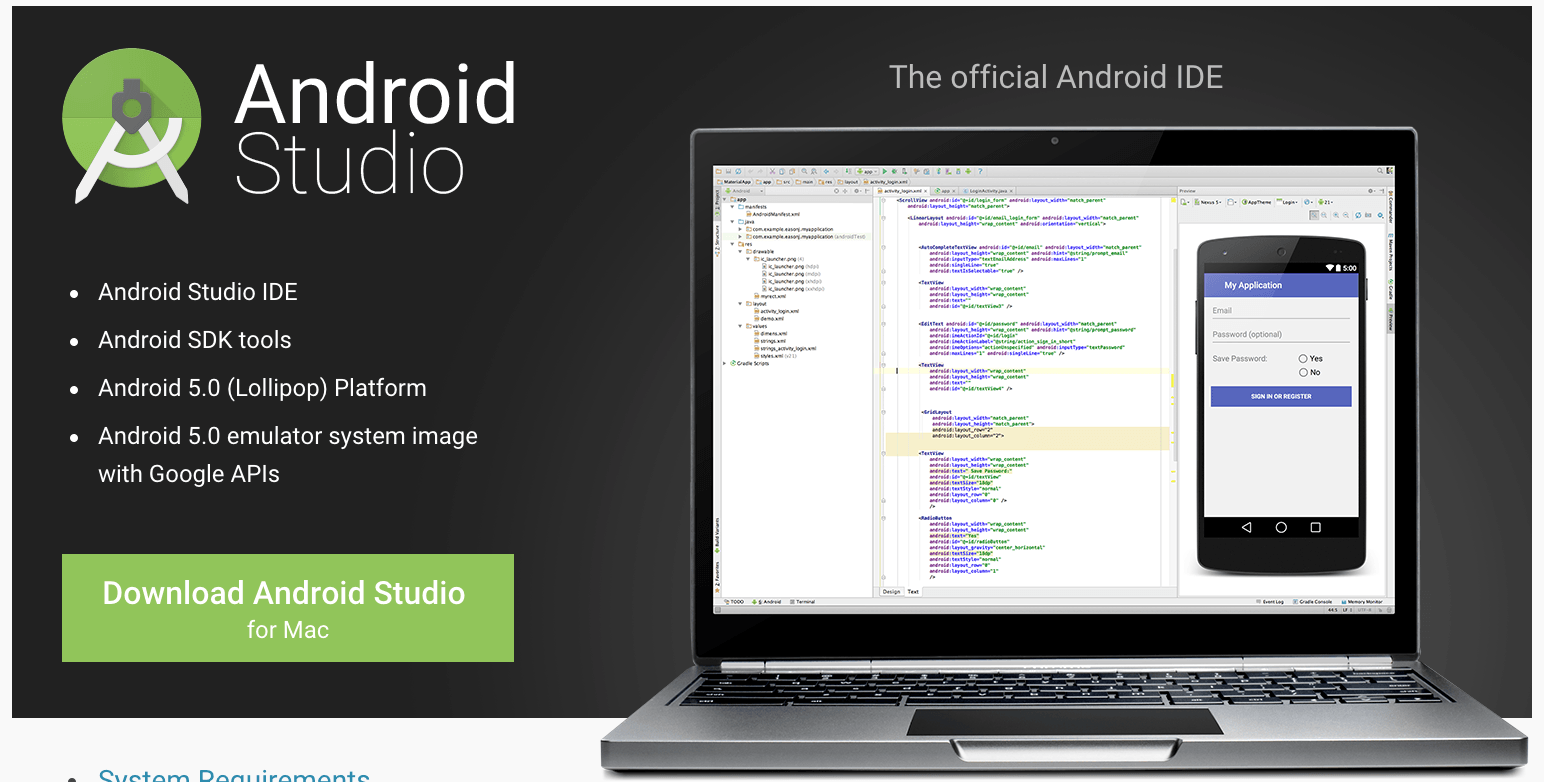 Install Android Studio on Mac