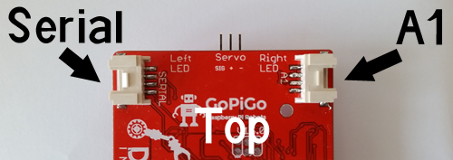 Top View of GoPiGo Sensors