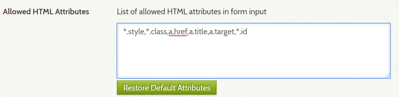 Add *.id to allowed HTML Attributes field
