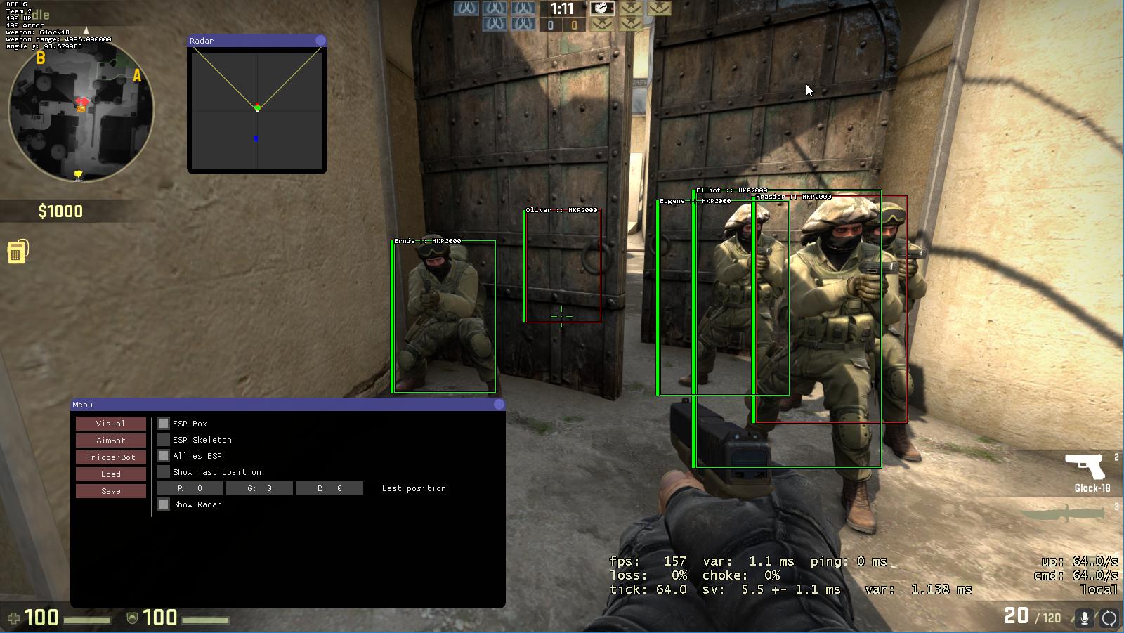 GitHub - DimitriFourny/csgo-hack: Counter-Strike: Global Offensive Hack