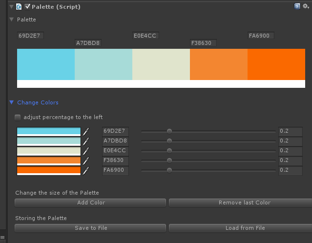 Palette UI preview