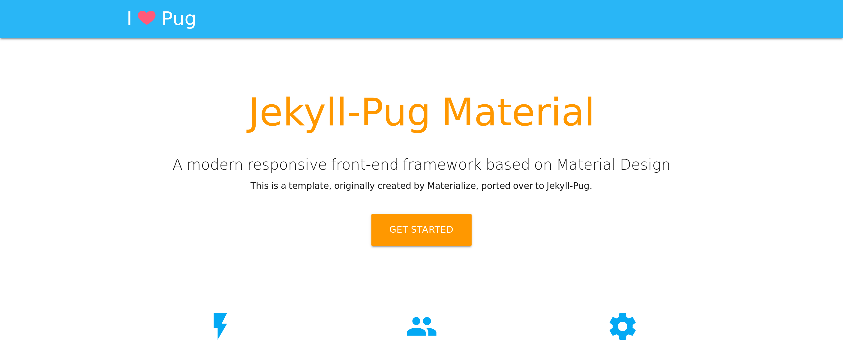 Material-Jekyll-Pug screenshot