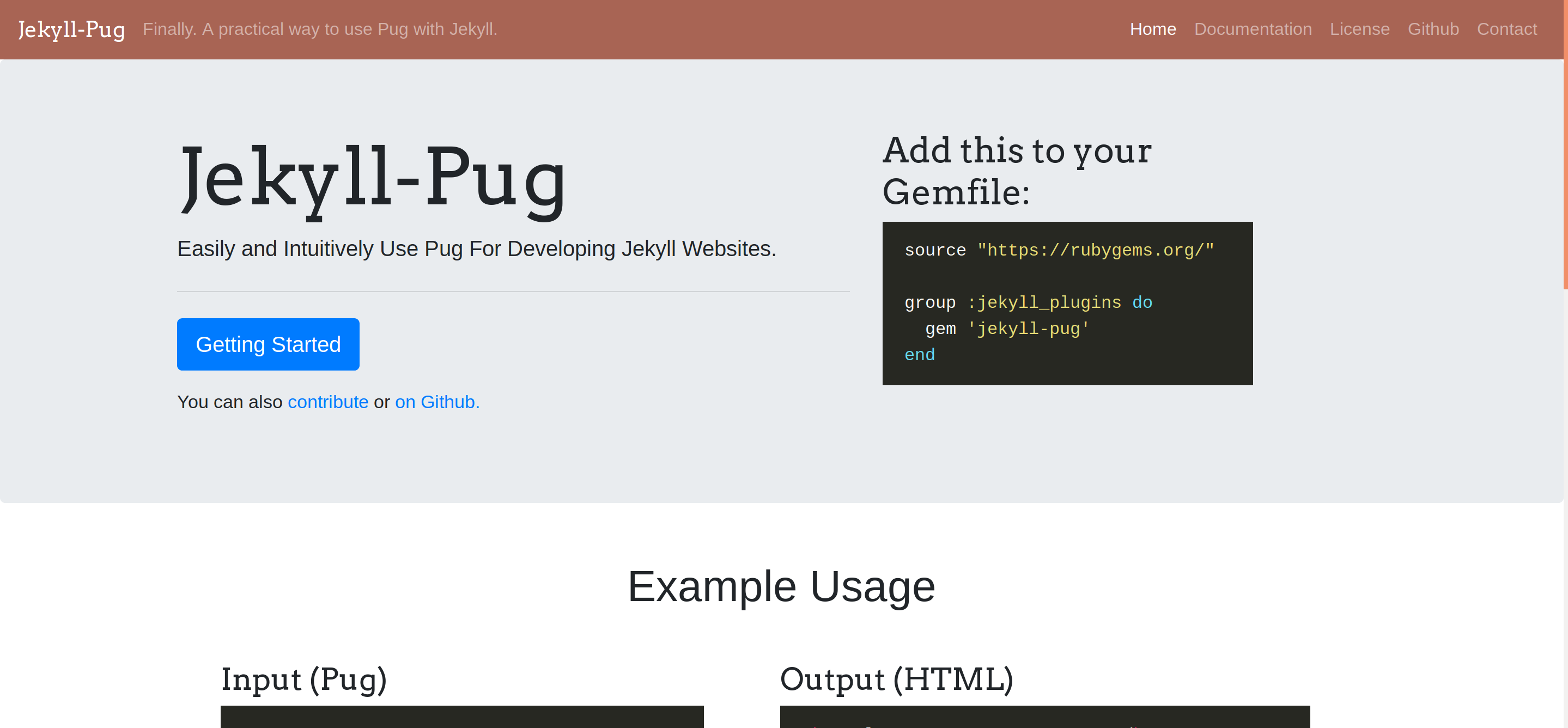 Jekyll-Pug-Website screenshot