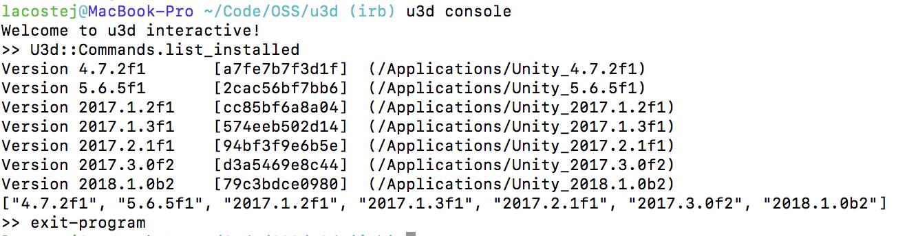 u3d console