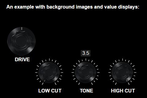 potentiometer widgets, example 2, distortion