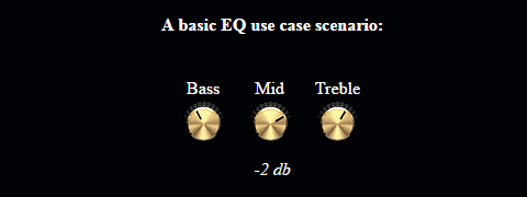 potentiometer widgets, example 1, eq
