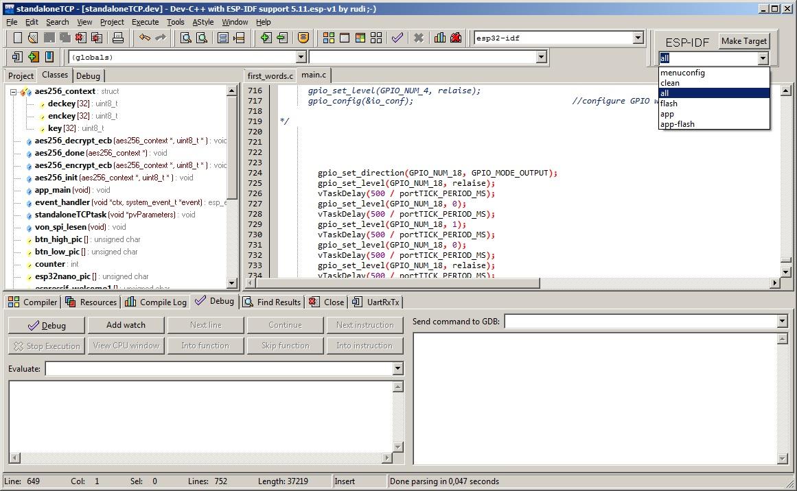 GitHub - ESP32DE/devC_esp-idf: DevC++ - IDE with ESP32 esp