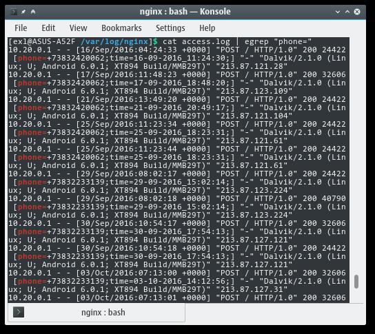 Konsole Log Linux Screen