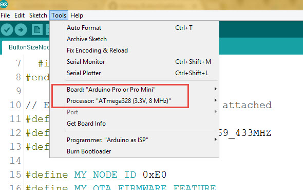 Arduino IDE Settings