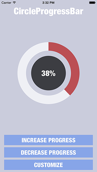CircleProgressBar Screenshot-iOS-Example