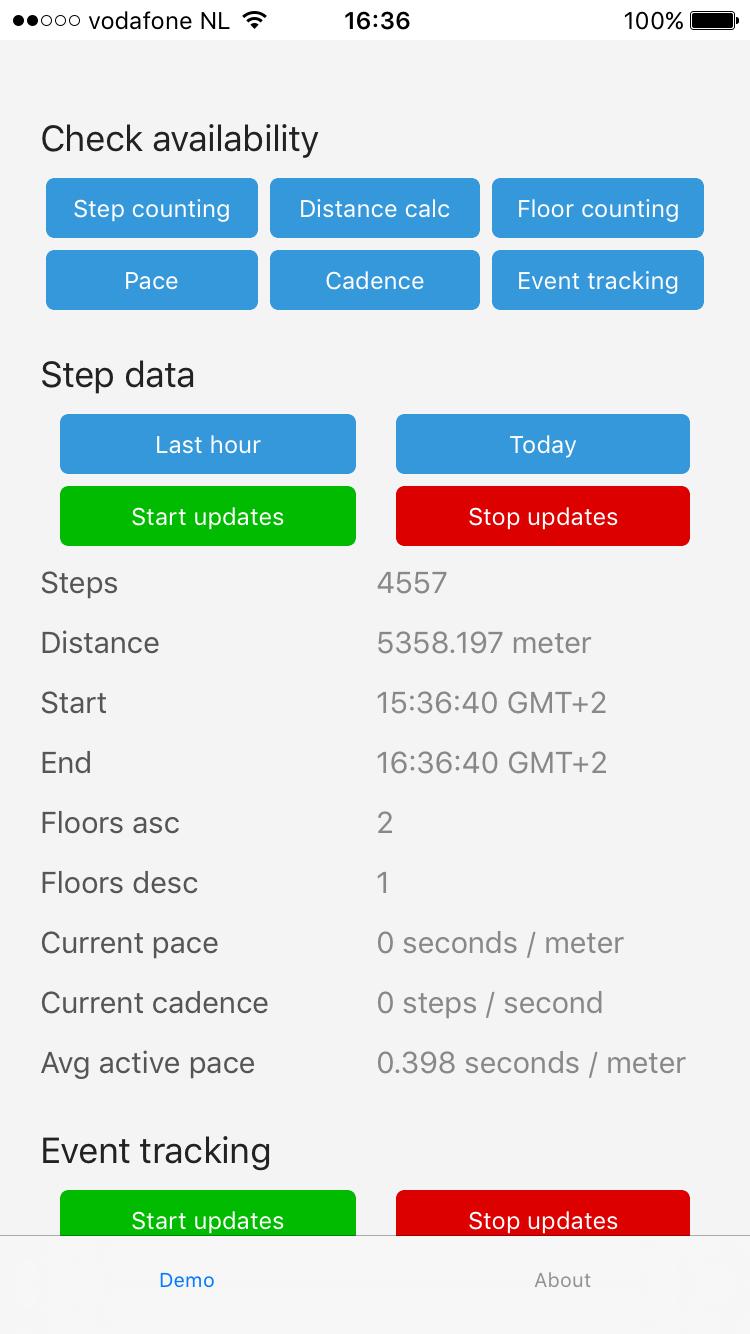 GitHub - EddyVerbruggen/nativescript-pedometer: step count tracking