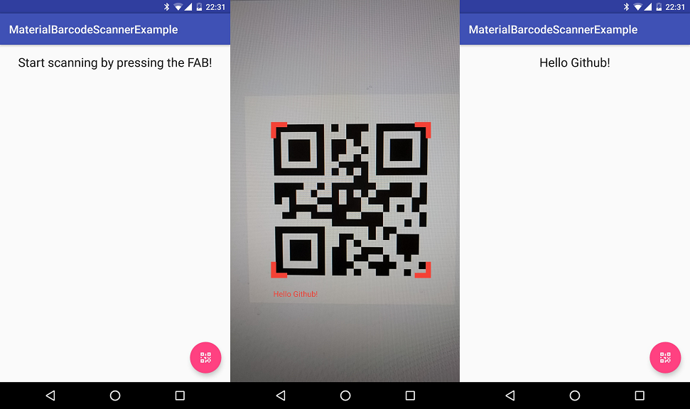 The Android Arsenal - Bar Codes - MaterialBarcodeScanner