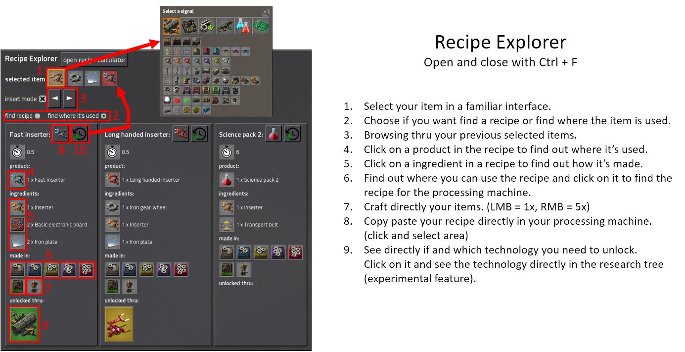 Recipe Explorer - Factorio Mods