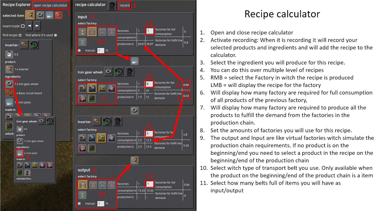 Recipe Explorer - Factorio Mods