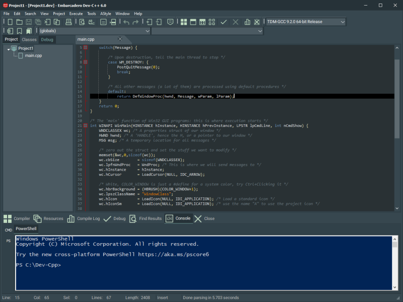 Embarcadero Dev C++ 6.1 full