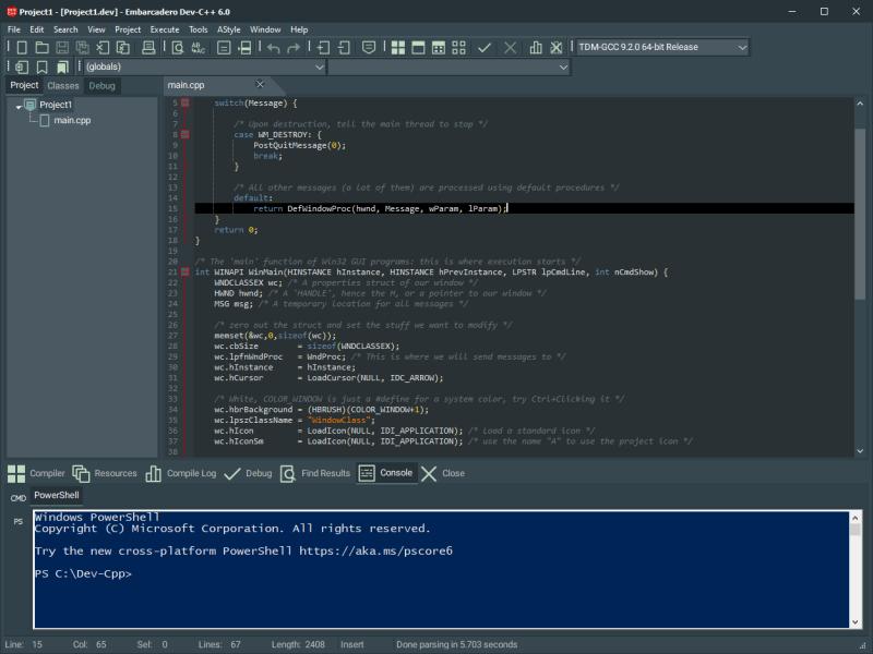 Embarcadero Dev C++
