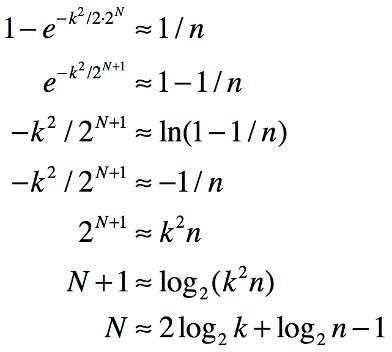 Entropy Bits Equation
