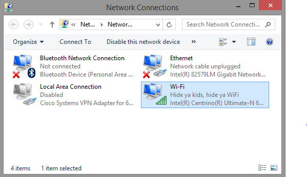 intel network connection drivers chrome