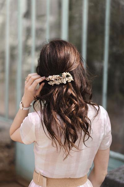 barrette daphne blanche