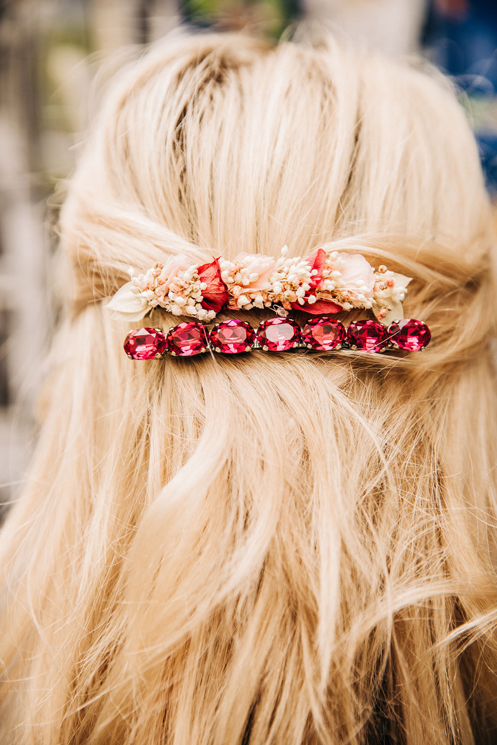 barrette rose