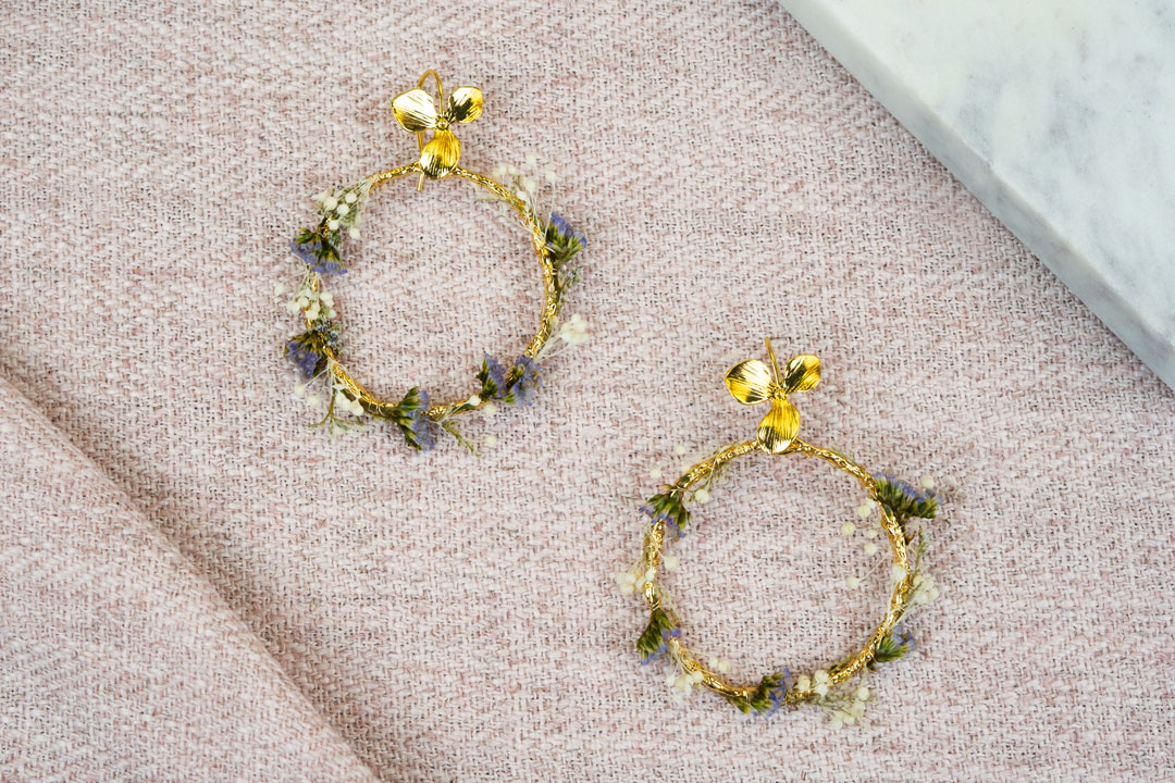 boucles doreille iris