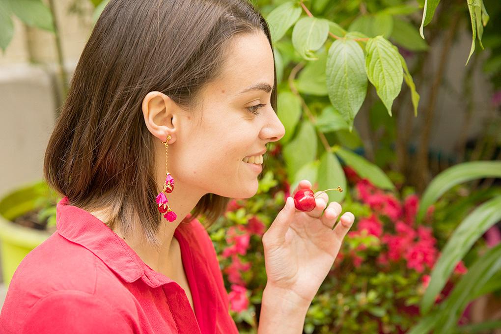 boucles doreille prune