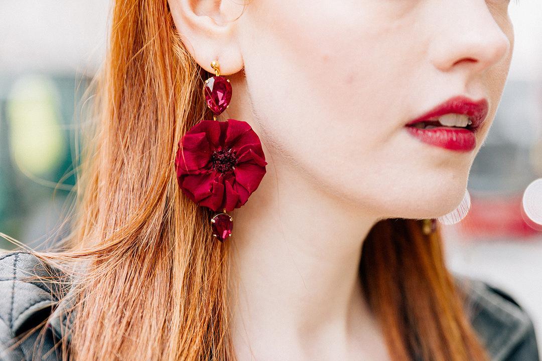 boucles doreille ruby