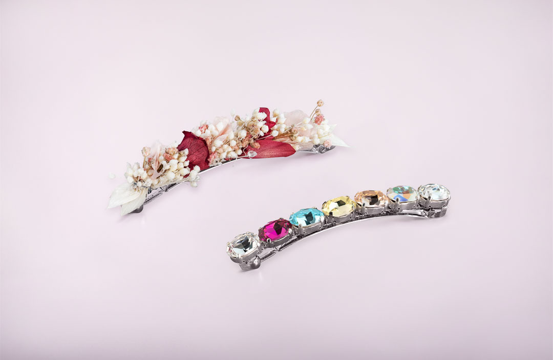 duo barrettes rose et alice