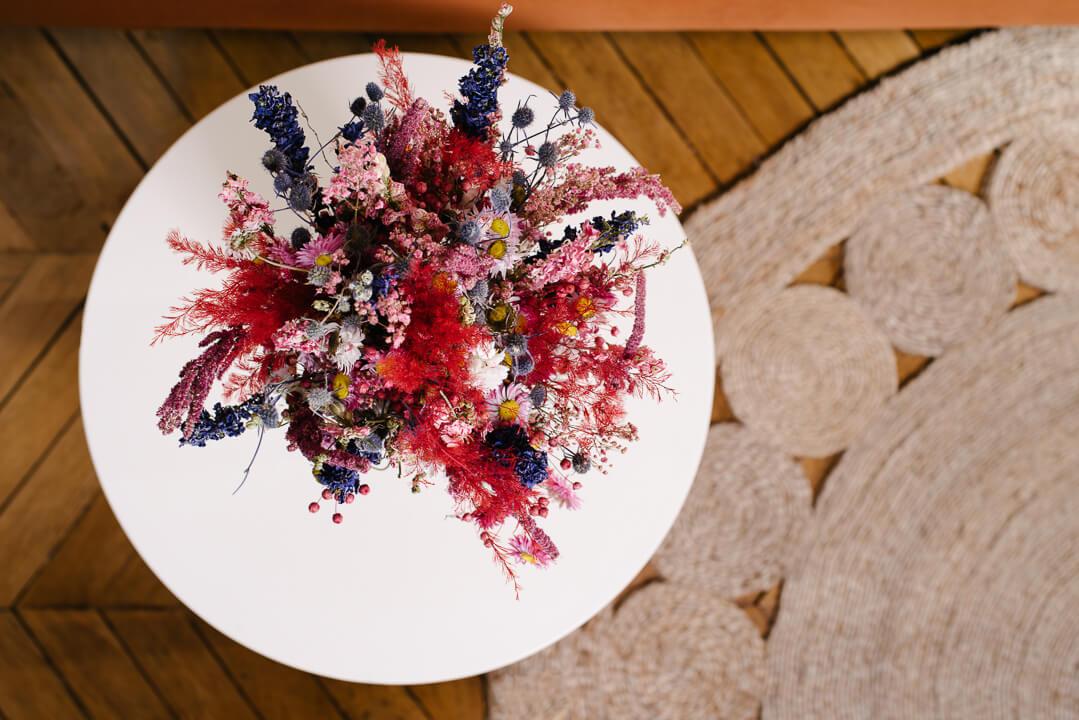 grand bouquet madras vase