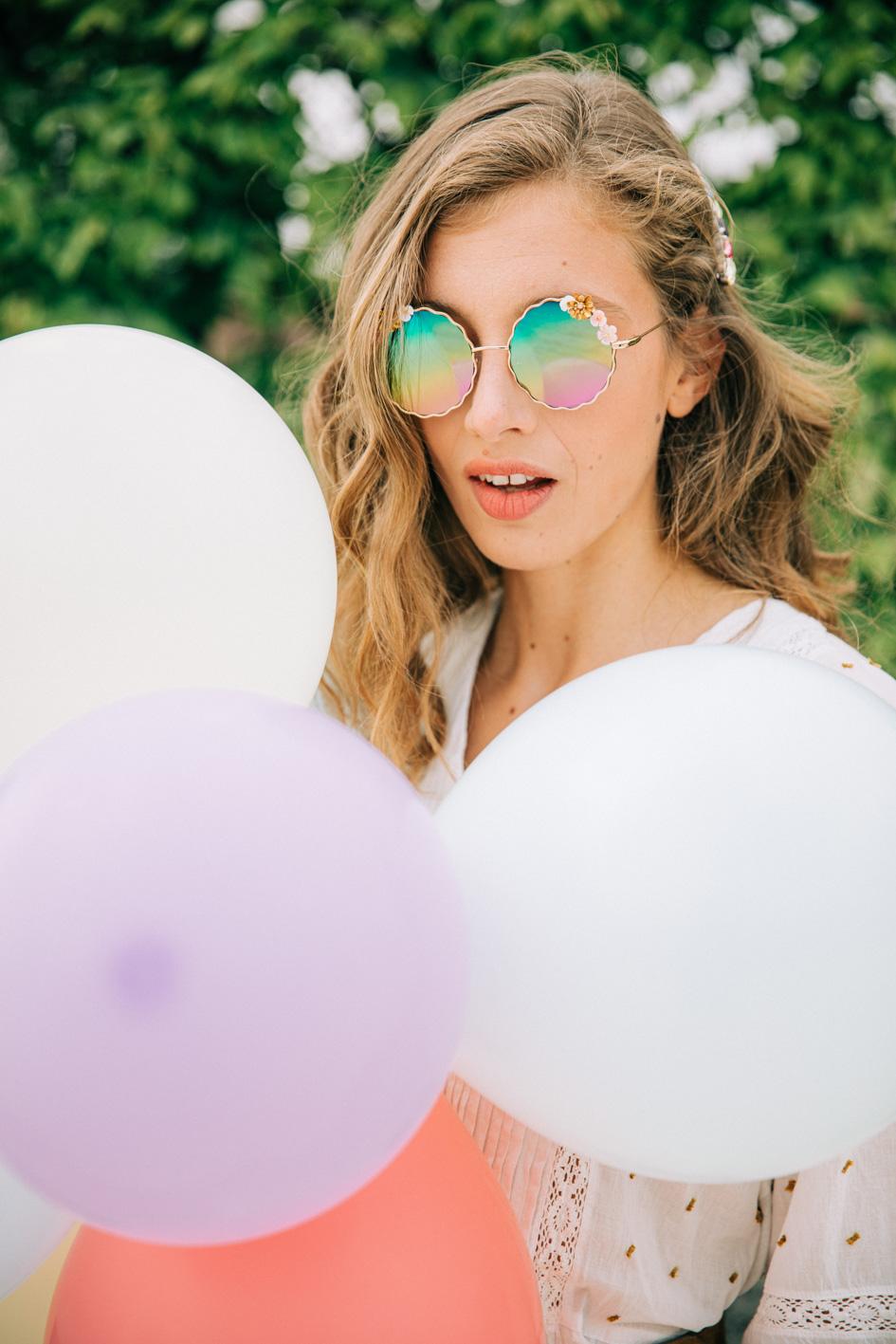 lunettes cardi multicolores