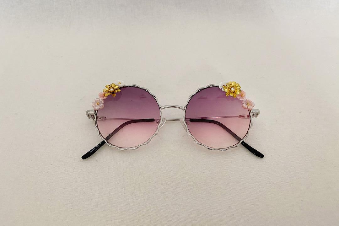 lunettes cardi roses