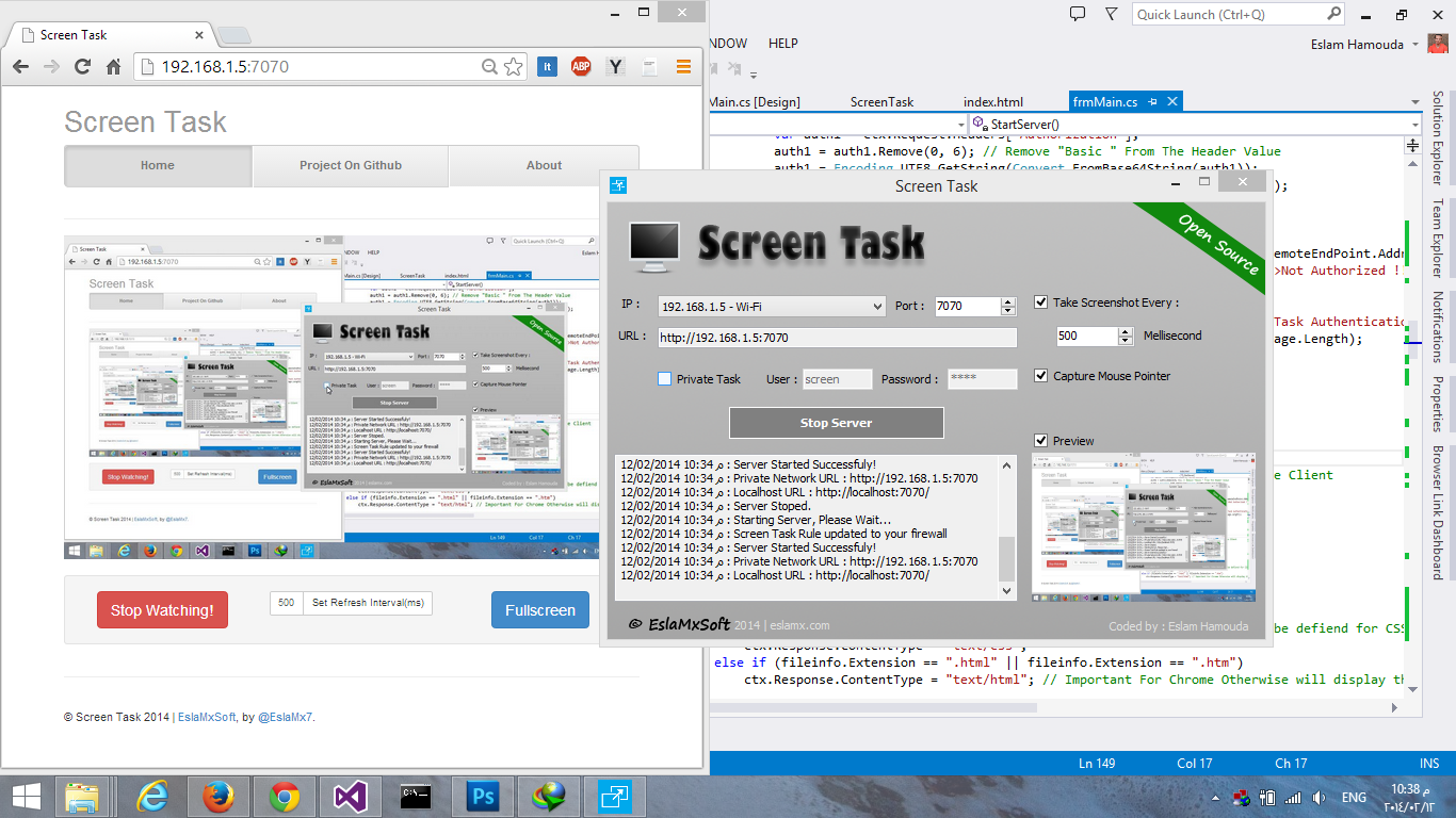 Screen Task WebUI