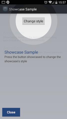 Capture d'écran de ShowcaseView