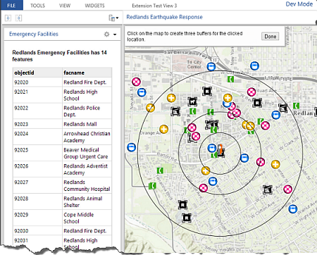 Operations Dashboard with extensions