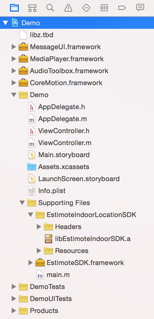 ScreenShot LinkWithBinaryLibraries