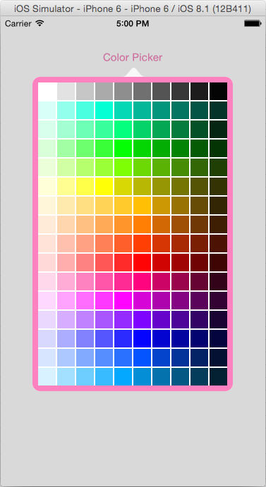 Simple swift color picker popover (iOS) - Stack Overflow
