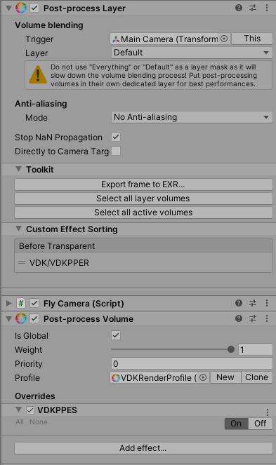 Sample UDS camera Settings