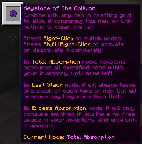 Keystone of the Oblivion