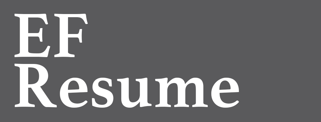 EFResume - 一个普通的简历模板