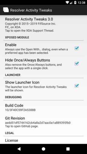 Resolver Activity Tweaks | Xposed Module Repository