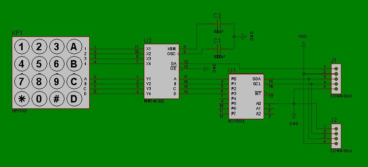GitHub - F4GOJ/Keypad_I2C: Keypad I2C interface for Arduino