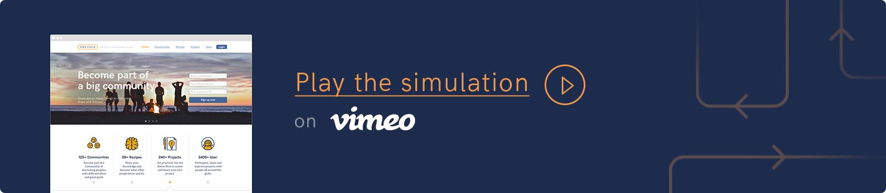 Video simulation of the platform