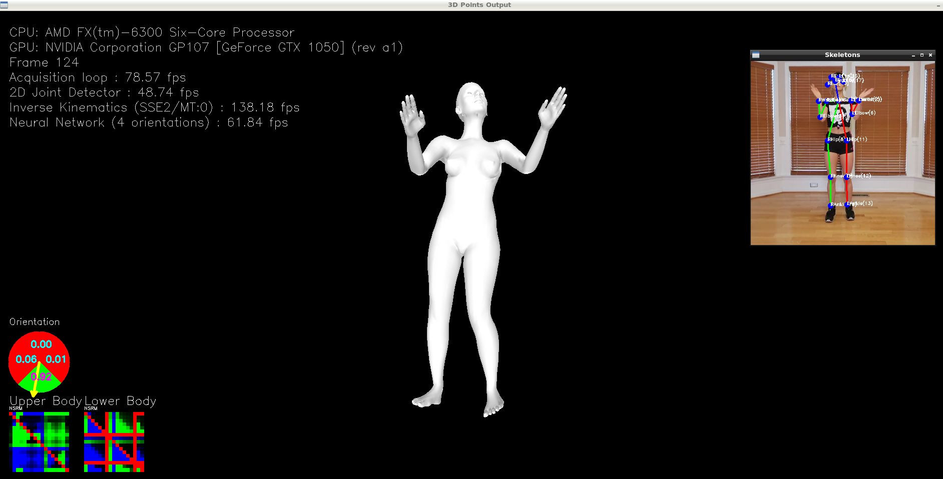 MocapNETLiveWebcamDemo OpenGL visualization