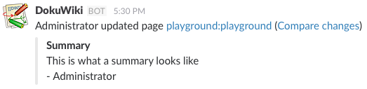 Example notification